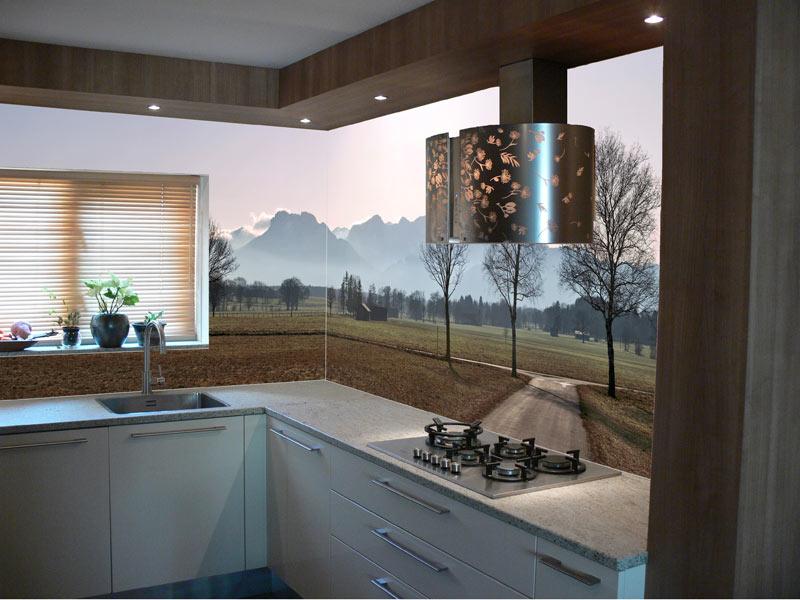 Koof keuken bekleed met HPL